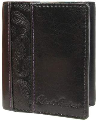 Robert Graham Myron Paisley Embossed Leather Trifold Wallet