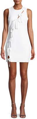 Cinq à Sept Vita Tie-Front Sleeveless Mini Dress
