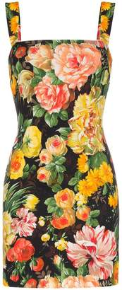 Dolce & Gabbana Cady floral print sleeveless mini dress