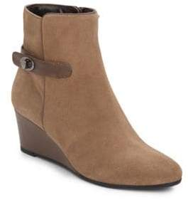 Aquatalia by Marvin K Julianna Suede Wedge Booties