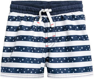 H&M Patterned Swim Shorts - Blue