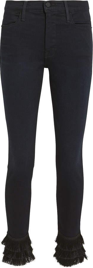 Le High Skinny Triple Fringe Jeans