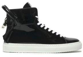 a7f3eb0377a48c Black Patent Leather High Top Sneakers - ShopStyle UK