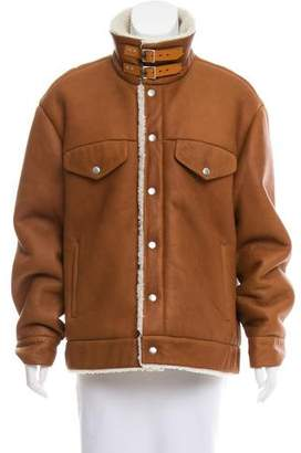 Rag & Bone Leather Shearling Jacket