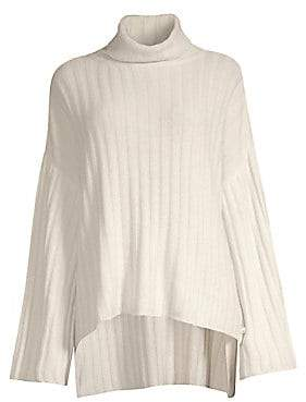 Milly Women's Cashmere High-Low Turtleneck Sweater