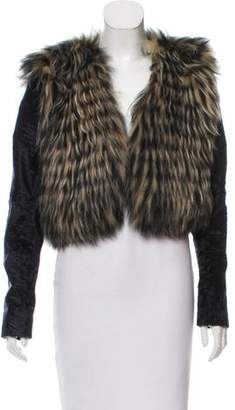 Oscar de la Renta Long Sleeve Fur Jacket w/ Tags