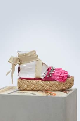 Miu Miu Raffia sandals