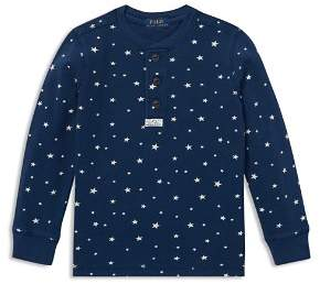 Ralph Lauren Boys' Mesh Star Print Henley Tops - Little Kid