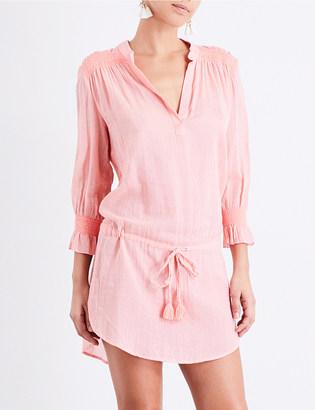 Heidi Klein Capri smocked cotton tunic dress $235 thestylecure.com