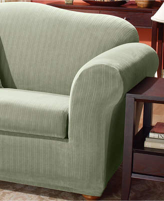 At Macy S Sure Fit Stretch Pinstripe 2 Piece T Cushion Sofa Slipcover