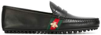 Gucci Web trim loafers