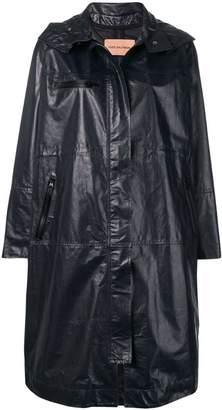 Yves Salomon oversized leather parka