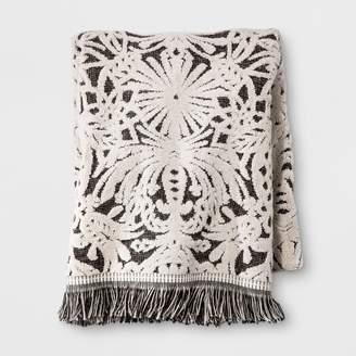 Opalhouse Allover Pattern Towel Black/White