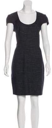 L'Agence Mini Sheath Dress blue Mini Sheath Dress
