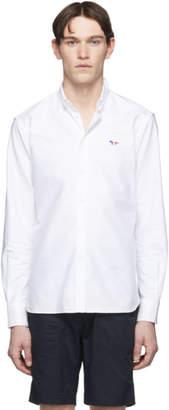 MAISON KITSUNÉ White Tricolor Fox Shirt