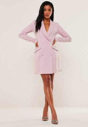 Missguided Lilac Double Breasted Blazer Dress