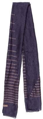 Lanvin Silk-Blend Striped Scarf