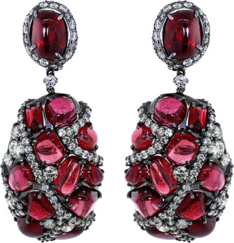 Arunashi Spinel And Diamond Earrings