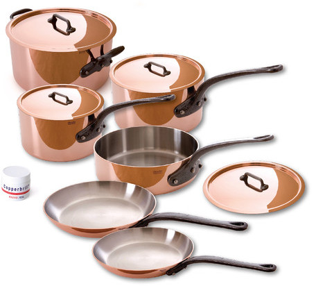 Mauviel M'Heritage Stainless Steel 10-Piece Cookware Set