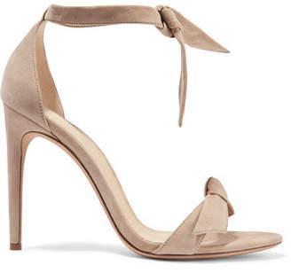 Alexandre Birman Clarita Bow-embellished Suede Sandals - Mushroom