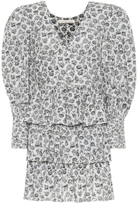 LoveShackFancy Paris floral cotton minidress