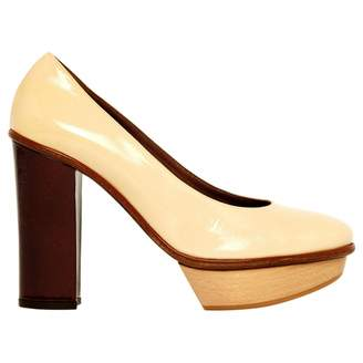 Marni Beige Patent leather High Heel
