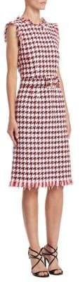 Oscar de la Renta Houndstooth Printed Dress
