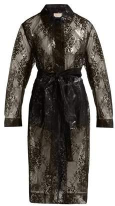 Christopher Kane Lace Pvc Coat - Womens - Black