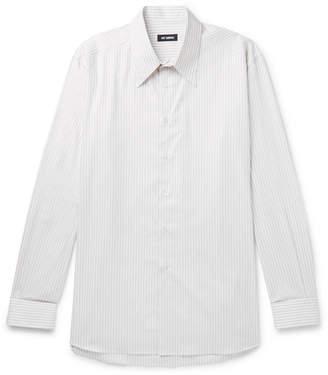 Raf Simons Oversized Striped Cotton-Poplin Shirt