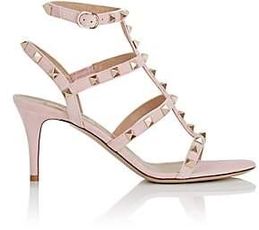 Valentino Women's Rockstud Suede Sandals - Pink