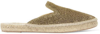 Lurex Espadrille Slippers - Gold