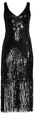 Nanette Lepore Women's Funkytown Sequin Fringe Slip Dress