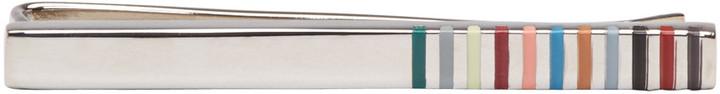 Paul SmithPaul Smith Silver Rod Edge Tie Bar
