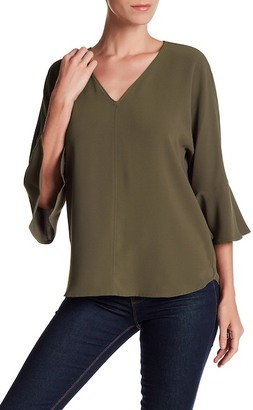 Pleione 3/4 Length Bell Sleeve Shirt $64 thestylecure.com