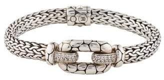 John Hardy White Topaz Kali Station Bracelet