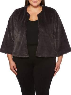 Rafaella Plus Faux Fur Jacket