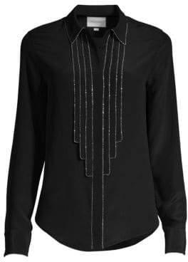 Alexis Amika Embellished Silk Blouse