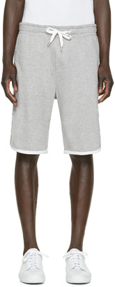 Moncler Grey Classic Lounge Shorts $270 thestylecure.com