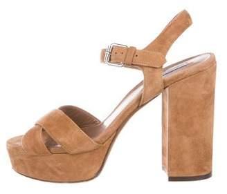 Tabitha Simmons Suede Platform Sandals