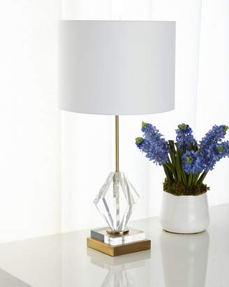 Josephine Crystal Diamond Table Lamp with Brass Metal Base