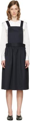 Comme des Garçons Girl Navy Apron Dress $730 thestylecure.com