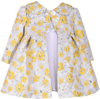 Bonnie Jean Toddler Girl Floral Jacquard Dress & Coat Set