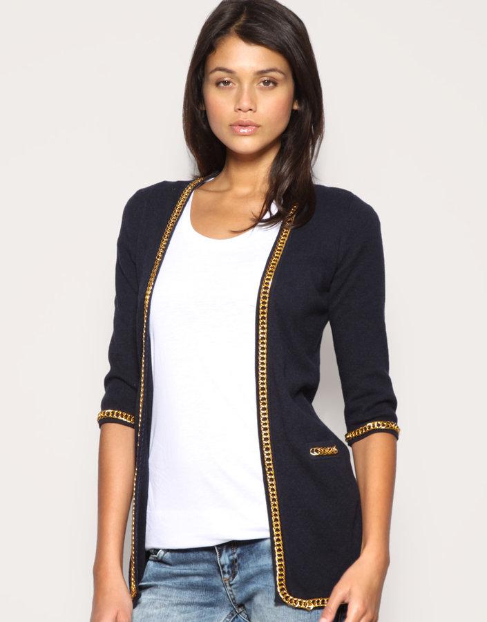 ASOS Premium Chain Detail Knitted Jacket
