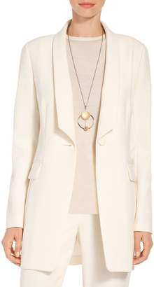 St. John Bella Double Weave Angled Shawl Collar Jacket