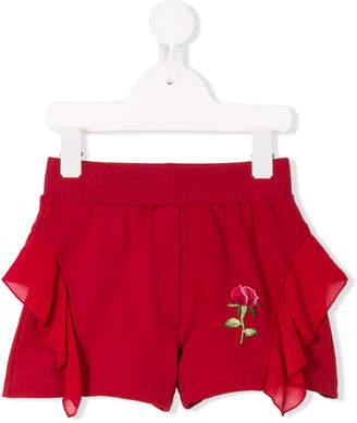 MonnaLisa rose embroidery shorts