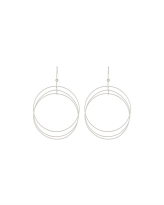 Kenneth Jay Lane Multi-Circle Drop Earrings, Silvertone $30 thestylecure.com
