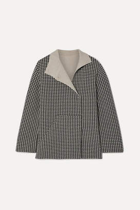 Akris Houndstooth Cashmere Jacket - Black