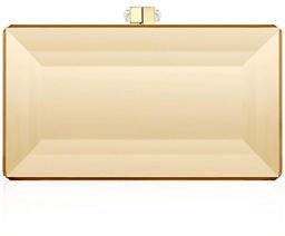 Judith Leiber Couture Reflection Coffered Box Clutch Bag