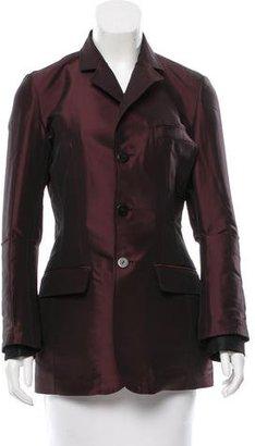 Jean Paul Gaultier Notch-Lapel Iridescent Jacket $175 thestylecure.com