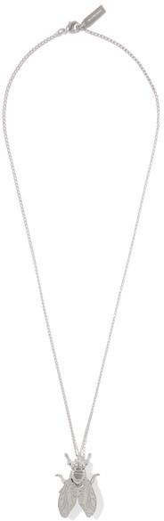 Balenciaga Balenciaga - Bug Silver-tone Necklace - one size